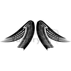 vinyl ready vector wing tattoo design 040 clipart. Royalty-free image # 392715