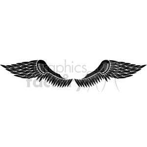 vinyl ready vector wing tattoo design 071 clipart. Royalty-free image # 392725