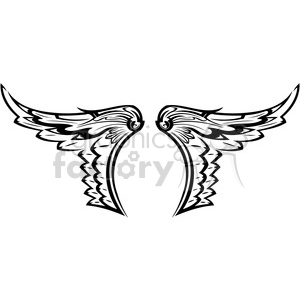 vinyl ready vector wing tattoo design 007 clipart. Commercial use image # 392745
