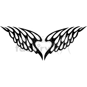 vinyl ready vector wing tattoo design 078 clipart. Commercial use image # 392765