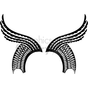 vinyl ready vector wing tattoo design 060 clipart. Royalty-free image # 392775