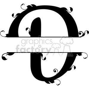 split regal d monogram vector design clipart. Royalty-free image # 392841