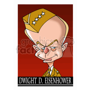 celebrity famous cartoon editorial-only people funny caricature dwight+d+eisenhower president 34th