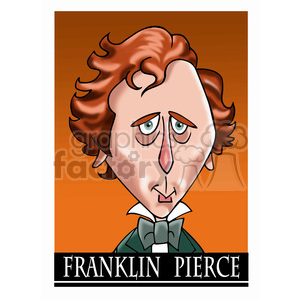 franklin pierce color clipart. Royalty-free image # 392915