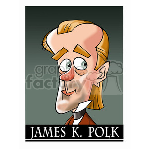 james k polk color clipart. Royalty-free image # 392956