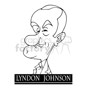 lyndon b johnson black white clipart. Royalty-free image # 392981