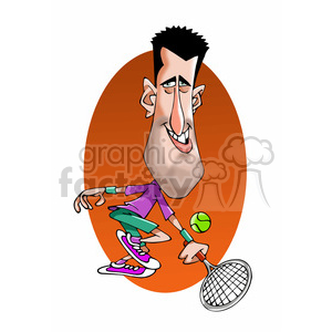 novak djocovic color clipart. Royalty-free image # 393013