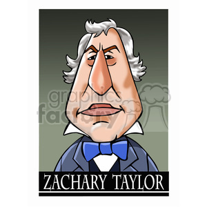 celebrity famous cartoon editorial-only people funny caricature zachary+taylor president 12th