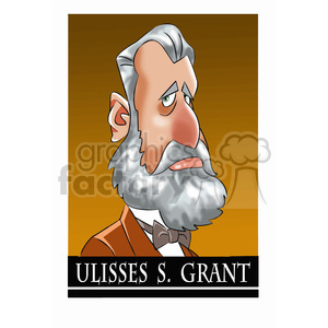 ulisses s grant cartoon character clipart. Royalty-free image # 393322