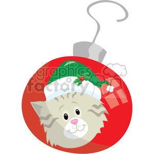 kitten christmas ornament 2 clipart. Commercial use image # 393408