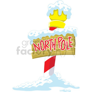 north pole sign clipart. Commercial use image # 393418