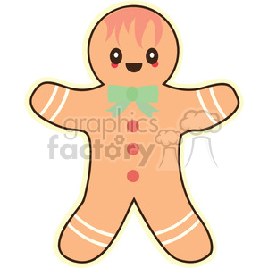 gingerbread man clipart. Royalty-free image # 393446