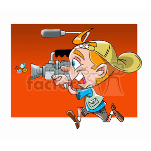 cameraman cartoon clipart. Royalty-free image # 393486
