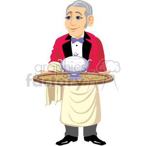 male waiter clipart. Royalty-free image # 393623