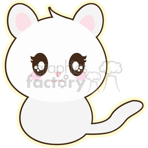 cartoon cat illustration clip art image clipart. Royalty-free image # 393841