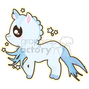 cartoon Unicorn Boy illustration clip art image clipart. Royalty-free image # 393861
