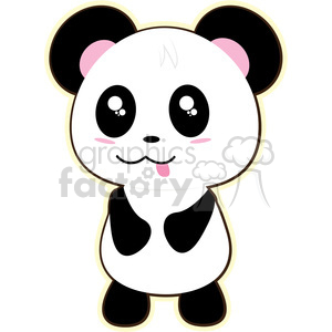 cartoon Panda illustration clip art image clipart. Royalty-free image # 393871