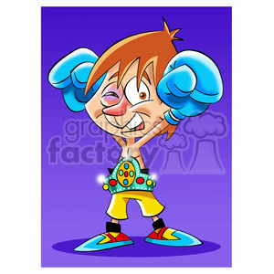 cartoon comic funny characters people boxer boxing fighter sports