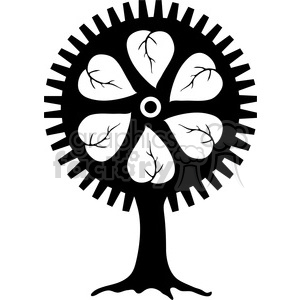 Gear Tree clipart. Royalty-free image # 394077