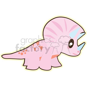 pink baby dinosaur 2 cartoon character illustration clipart. Commercial use image # 394177