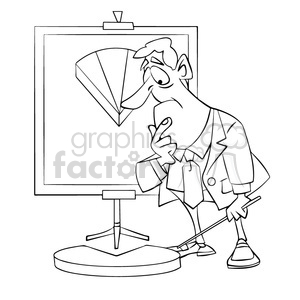 salesman with dissapointing sales results clipart. Royalty-free image # 394227