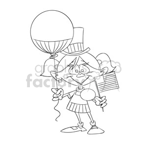 birthday girl outline clipart. Royalty-free image # 394252