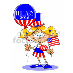 Hillary Clinton campaign supporter clipart. Royalty-free image # 394262