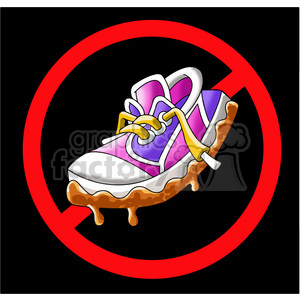 no muddy shoes sign clipart. Commercial use image # 394288
