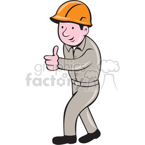 builder construction worker thumbs up ISO clipart. Commercial use image # 394448
