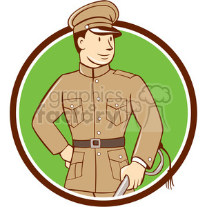 world war one officer soldier CIRC clipart. Royalty-free image # 394458