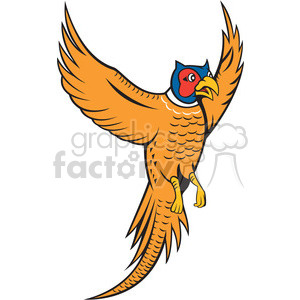 pheasant bird flying front clipart. Commercial use image # 394518