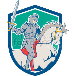 knight rider horse sword side SHIELD clipart. Commercial use image # 394548