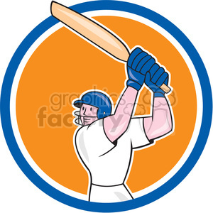 cricket player batting OL 1114 CIRC clipart. Royalty-free image # 394568
