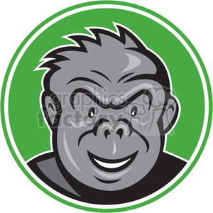 gorilla ANGRY HEAD CIRC clipart. Commercial use image # 394578