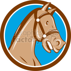 horse side HEAD BRIDLE CIRC clipart. Royalty-free image # 394588