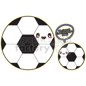 cute cartoon soccer ball balls sports