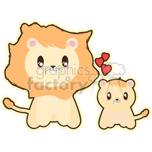 Lion and Cub clipart. Royalty-free image # 394648