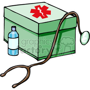 first aid kit clipart. Royalty-free image # 160138