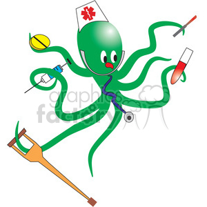 Green nurse octopus clipart. Royalty-free image # 133681