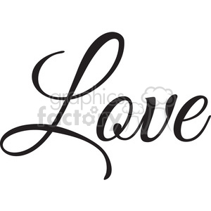 love vector word clipart. Commercial use image # 394844