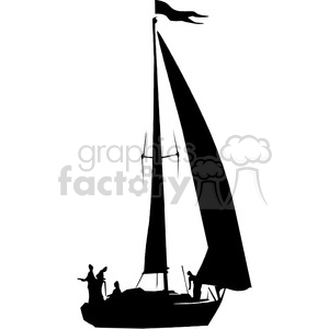 Royalty Free Sailboat Silhouette 394865 Vector Clip Art