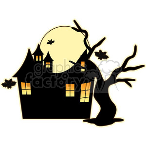 cartoon cute character Halloween ghost boo scary haunted ghosts house haunted+house
