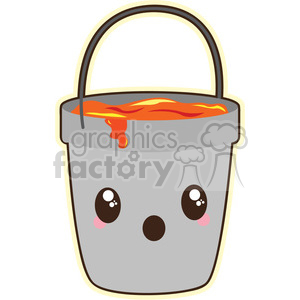 lava bucket cartoon character vector image clipart. Commercial use image # 394931