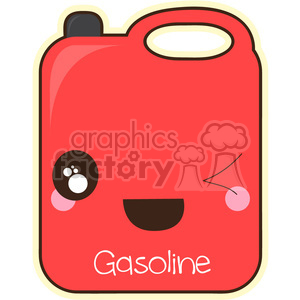 Gas Can cartoon character vector clip art image clipart. Royalty-free image # 395007