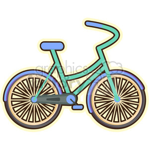 Bicycle cartoon character vector clip art image clipart. Royalty-free image # 395027