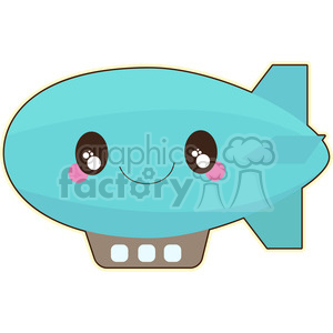 Blimp cartoon character vector clip art image clipart. Royalty-free image # 395037