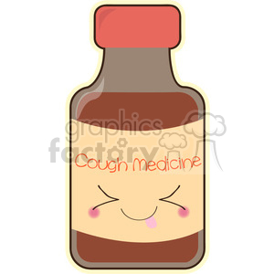 Cough Medicine cartoon character vector clip art image clipart. Royalty-free image # 395047