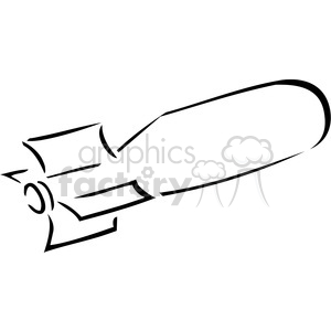 black and white outline of a bomb clipart. Commercial use image # 173711