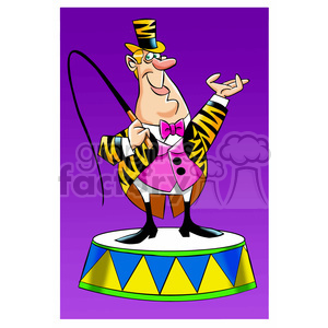 circus ringleader cartoon man clipart. Royalty-free image # 395084