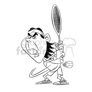 rafa nadal black and white clipart. Royalty-free image # 395104